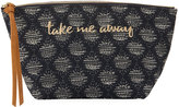 Neiman Marcus Take Me Away Fabric Cosmetic Pouch