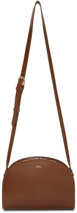 A.P.C. Brown Half-Moon Bag