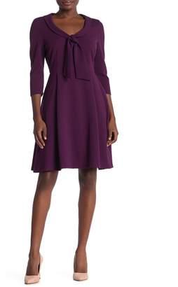 Alexia Admor Scoop Tie Neck Fit & Flare Dress