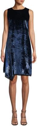 Elie Tahari Serenity Round-Neck Sleeveless Velvet Shift Dress