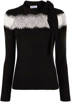 RED Valentino Lace-Panel Jumper