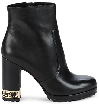 Karl Lagerfeld Paris Lalana Leather Heeled Boots