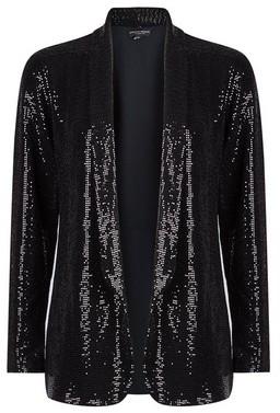 Dorothy Perkins Womens Black Sequin Blazer, Black