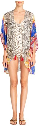 Johnny Was Oksana Short Kimono Cover-Up (Multi) Women's Swimwear