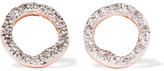 Monica Vinader Riva Circle Rose Gold Vermeil Diamond Earrings - one size