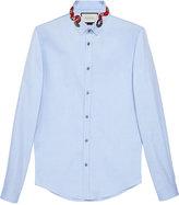 Gucci Oxford Duke shirt with snake - men - Cotton - 15 1/2