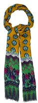 Etro Abstract Print Fringe Scarf w/ Tags