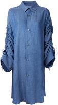 G.V.G.V. denim drawstring sleeves shirt - women - Tencel - 36