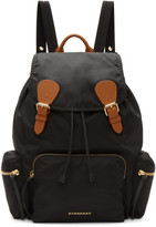 Burberry Black Nylon Rucksack