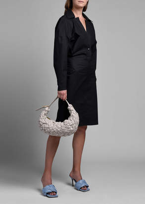 Bottega Veneta Long-Sleeve Technical Cotton Trench Shirtdress