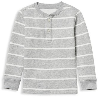 Janie and Jack Baby's, Little Boy's & Boy's Striped Henley Top