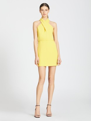 Halston Alix Cross Neck Dress