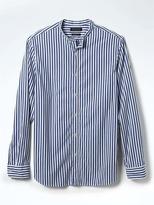 Banana Republic Camden-Fit Custom-Wash Banded-Collar Shirt