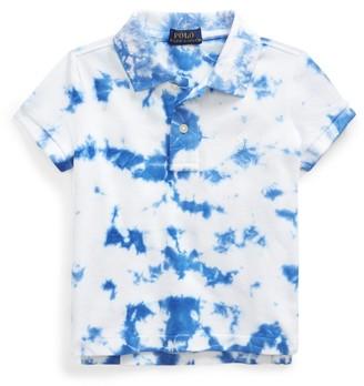 Ralph Lauren Tie-Dye Stretch Mesh Polo