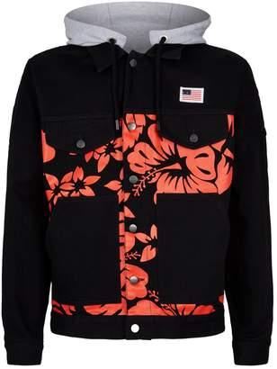Palm Angels Hawaiian Print Denim Jacket