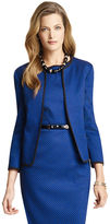 Anne Klein Geo Jacquard Fly Away Jacket