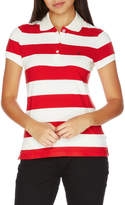 Nautica Ss Stripe Polo/Contrast Logo