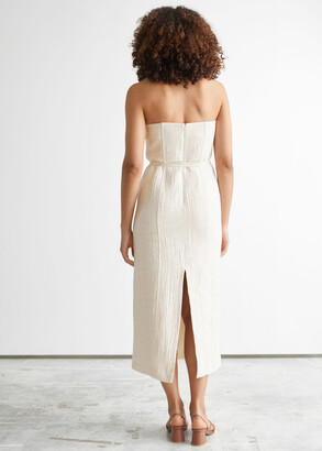 And other stories Bandeau Midi Dress