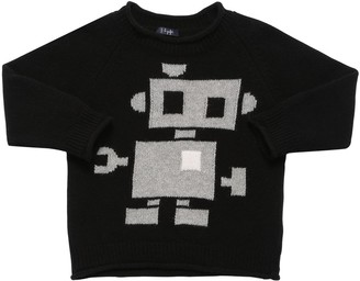 Il Gufo Robot Wool Intarsia Knit Sweater