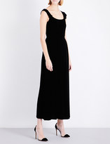 Armani Collezioni Knotted velvet gown