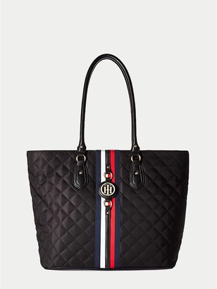 Tommy Hilfiger Quilted Stripe Tote