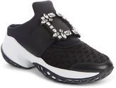 Roger Vivier Viv Run Crystal Buckle Mule Sneaker
