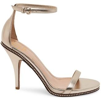 Valentino Starcarpet Metallic-Leather Ankle Strap Sandal