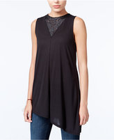 Rachel Roy Asymmetrical Lace-Inset Top, Only at Macy's
