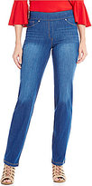 Peter Nygard Nygard Slims Luxe Denim Slim Straight Leg Pants