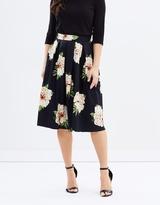 Dorothy Perkins Black Floral Full Skirt