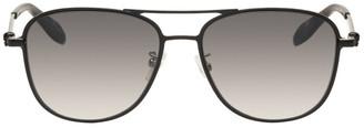 Alexander McQueen Black Metal Sunglasses