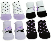 Baby Essentials Baby Girls' 4-Pack Socks