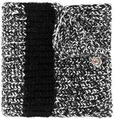 Moncler speckled knit scarf