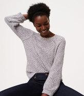 LOFT Petite Marled Sweatshirt Sweater