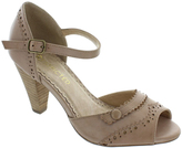 Restricted Taupe Done Deal Peep-Toe Sandal
