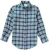 Class Club Big Boys 8-20 Twill Plaid Shirt