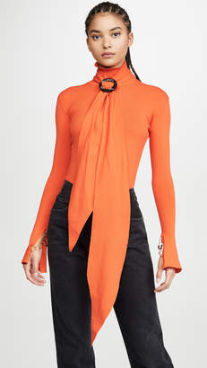 Ellery Asher Top With Scarf Collar