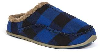 Deer Stags Slipperooz Lil' Nordic Faux Shearling Lined Plaid Slipper (Little Kid & Big Kid)