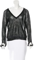 Maison Margiela Sheer V-Neck Sweater