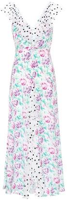 Rixo Antoinette floral silk maxi dress