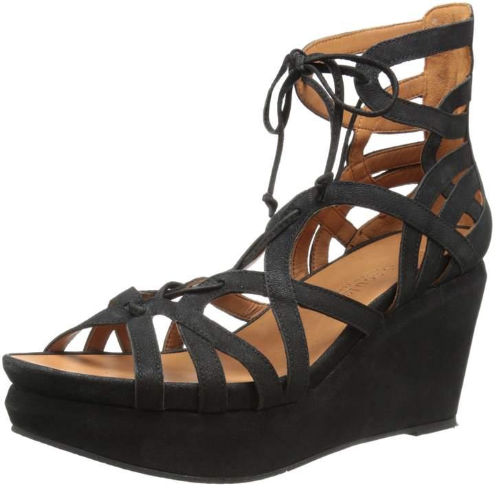 Gentle Souls Women's Joy Wedge Sandal with Ghillie Detail Platform