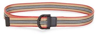 Burberry Double D-Ring Stripe Belt
