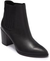 Steve Madden Jet Leather Chelsea Stacked Heel Boot