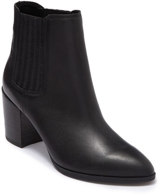 Steve Madden Jet Leather Chelsea Stacked Heel Boot