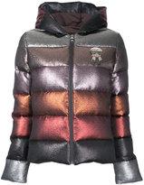 Fendi glittery hooded puffer jacket