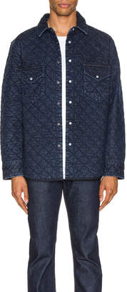 Levi's Made & Crafted Made & Crafted Quilted Western Shirt in Outback | FWRD