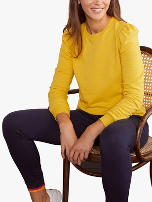 Boden Puff Sleeve Sweatshirt, Canary