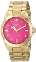 Juicy Couture Women's 1901108 Stella Hot Pink Jewel Toned Dial Watch