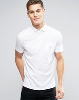 Polo Ralph Lauren Jersey Polo Custom Regular Fit Pocket Polo Player In White