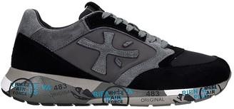 Premiata Zaczac Sneakers In Black Suede And Fabric